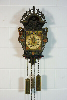 Antique Dutch Wall Clock Stoeltjes Clock Old Clock
