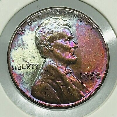 """LOT X01 1958 LINCOLN WHEAT CENT   /""""BU FROM UNC ROLL! GEM/"""" BID FOR ONE COIN"""