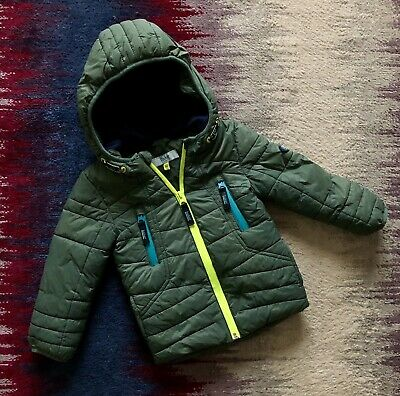 Ted Baker Baby Boy Green Winter Jacket Age 12-18 Months Vgc