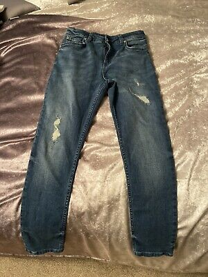 Boys River Island Skinny Jeans Age 10 Years Excellent Condition