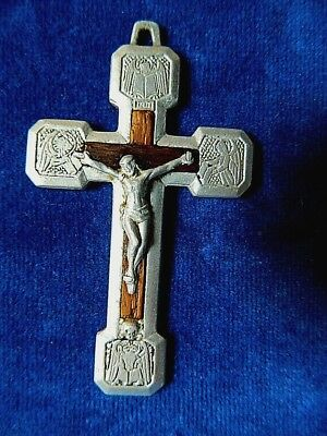 Vtg Rome Evangelical Crucifix Matthew Mark Luke John Passion Christ Lion Angel