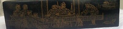 Antique French Chinoiserie Orientalist Lacquered Pencil Box Napoleon Iii  Japan