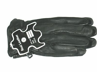 Mens Real Leather Gloves Thermal Lined Black Driving Winter Gift Gloves