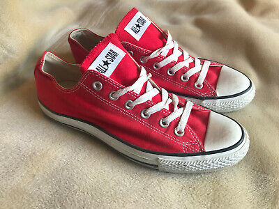 Converse All Star Canvas Pumps Trainers Red Size 8 Great Condition