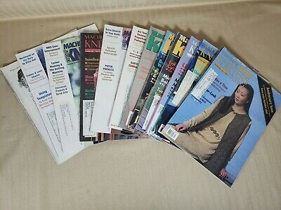 Vintage Machine Knitters source magazine set of 12 Between 1992 and 2000