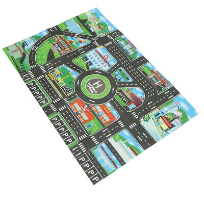 MagiDeal Kid City Traffic Play Mat Vehicle Road Carpet for Baby Development Toy