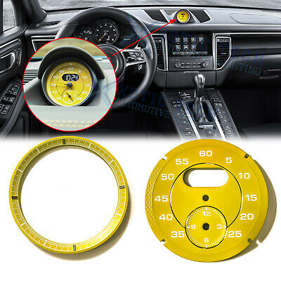 Yellow Porsche 981 982 718 Boxster Cayman Instrument Overlay Red
