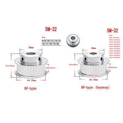 HTD 8M-20T-27//32W Bore 8mm Pitch 8mm Timing Belt Drive Pulley Synchronous Wheel