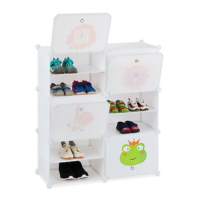 Etagère chaussures enfants Rayonnage emboîtable garde robe Rayons Commode