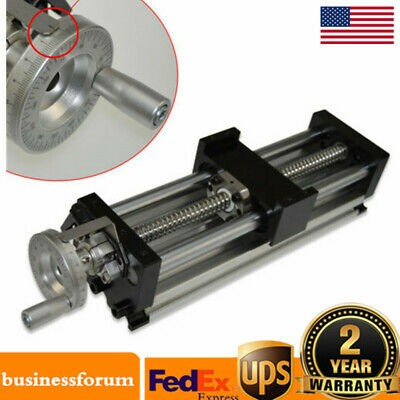 Precision Manual Sliding Table Ball Screw Linear Stage Slide 150//250//1000mm BT