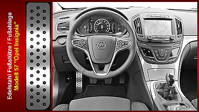 Fußstütze Fußablage Pedal Opel Insignia OPC Sports Tourer Cosmo Edelstahl