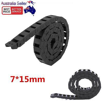 1M 7*15mm Nylon Towline Cable Drag Chain Wire Protect Carrier CNC Machine Router
