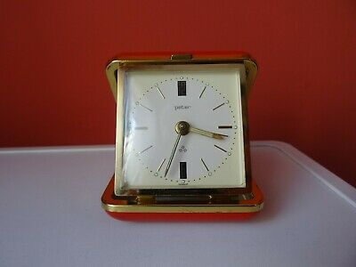 OLD WINTAGE  RETRO  GERMAN  TABLE   TOURIST ALARM Clock PETER 3 STAR JEWELS