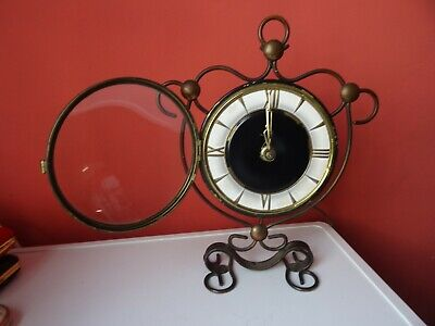 OLD WINTAGE  RETRO CLOCK Jakob Palmtag - Mechanical table clock in Art Nouveau