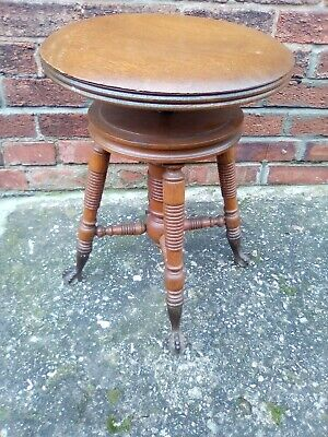 Antique American Piano Stool by H Holtzman & Son's, Columbus Ohio