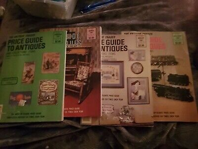 Lot Of 4 Antique Trader Price Guide to Antiques 1987