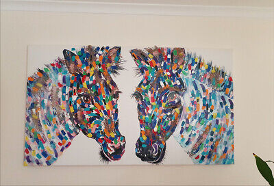 Tracey Keller's Zeus and Zena Hand Finished Limited Edition on canvas