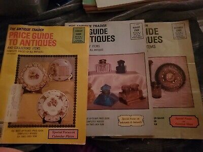 Lot Of 3  Antique Trader Price Guide to Antiques 1989