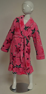Komar Kids Girl's Pink + Zebra Stars Dressing Gown Robe BNWT -  M 10-12 Years