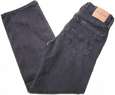 ABERCROMBIE & FITCH Boys Jeans 13-14 Years W26 L27 Black Cotton Straight  MF07
