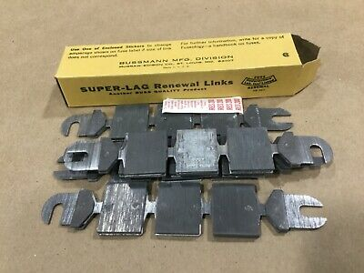 Box Of 5 Bussmann Buss Super-Lag Renewal Links LKS-200 600V #13G46