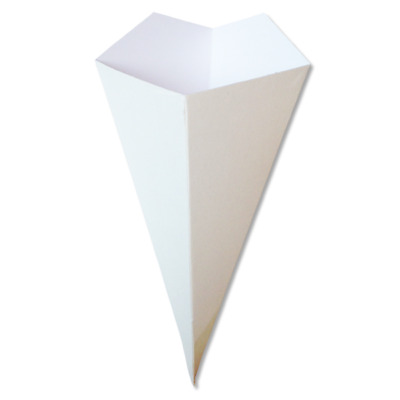 White Takeaway Crepe Cones paper crepe cones containers X200 15cm