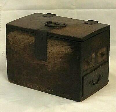 Antique Japanese Suzuribako Calligraphy Tansu Chest