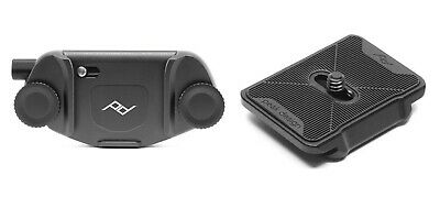 Peak Design Capture Clip V3 Black with Dual Plate - Arca-Swiss and Manfrotto-RC2