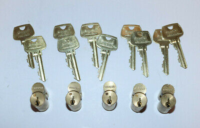 6 Assa Abloy Sargent 6300 Series Interchangeable Core Cylinder Lock w/Keys