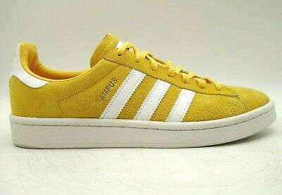 Adidas Campus Mustard Suede Casual Lace Up Fashion Sneakers Shoes Women's 8.5