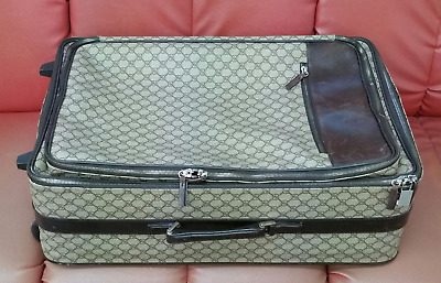 Authentic GUCCI Vintage GG Pattern Travel Trunk Bag Wheeled Bag