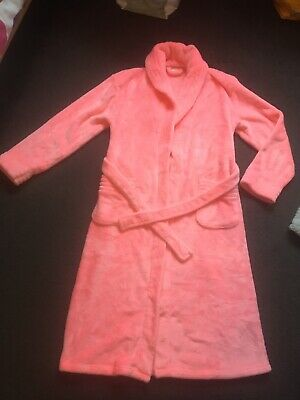 Girls Pink F&F Dressing Gown. 11-12 Years