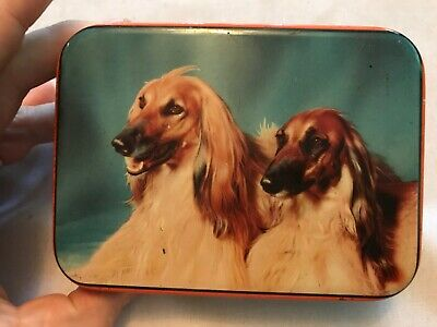 Afgan Hound Dogs Vintage Edward Sharp & Sons Tin