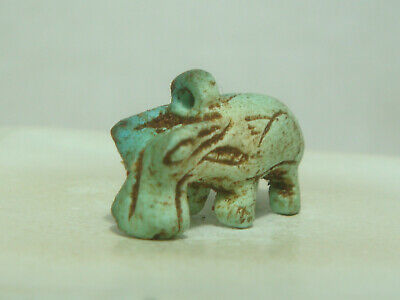 Ancient Egyptian goddess Taweret - Amulet (Faience)