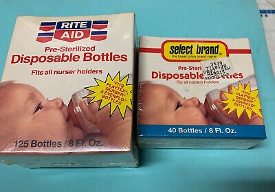 Pre-Sterilized Disposable Bottles 8oz, 165 Count Fits All Nursed Holders