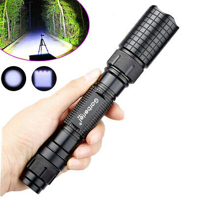 Tactical Police 900000Lumen T6 18650 LED Flashlight Aluminum Torch Zoomable Lamp