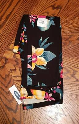 New With Tags Old Navy Girls  Floral Crop Leggings Size M (8)