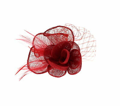 Zac's Alter Ego® Colourful Lace & Net  Fascinator with Feathers on Clip & Pin