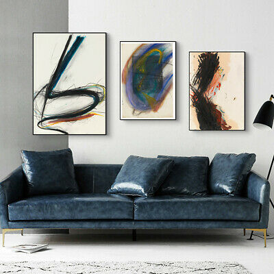 Sketch Simple-line Drawing Canvas Print Wall Abstract Art Graffiti Poster Decor