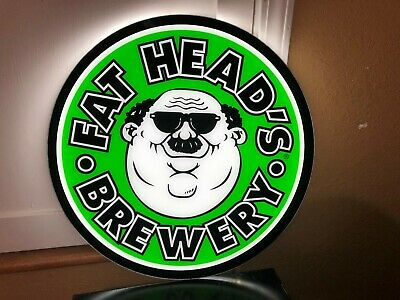 Fat Head's Brewery Led Beer Bar Sign Man Cave Garage Light Decor Ohio