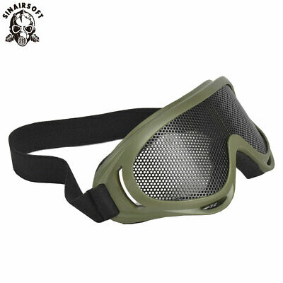 Airsoft Goggles Tactical NET Metal Mesh Glasses Eyewear Protection Mask Hunting