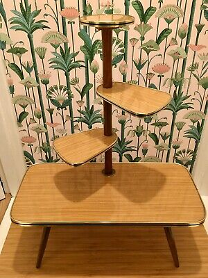 Vintage plant stand Mid Century Atomic Deco Modernist German