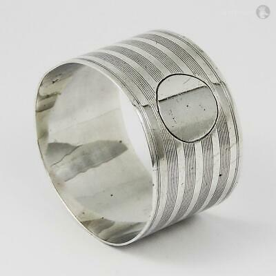 GEORGE V STERLING SILVER NAPKIN RING Birmingham 1920 Vacant Cartouche