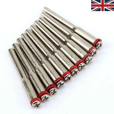 "50Pcs 1/8"" Miniature Mandrel Shanks Abrasive Cutting Wheel Holder Rotary Tools"