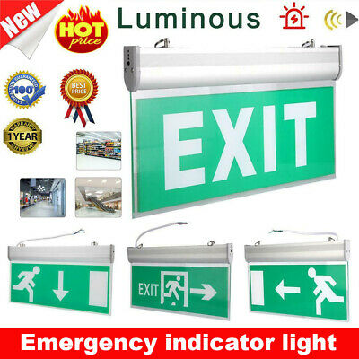 Indoor Emergency Exit Sign Light Fixtures LED Fire Light Safety Indicator Lamp