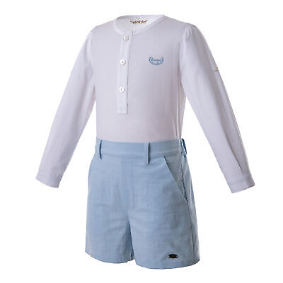 Spanish Boys Outfits Formal Party Suit Shirt Top With Shorts Pants Set Gentleman