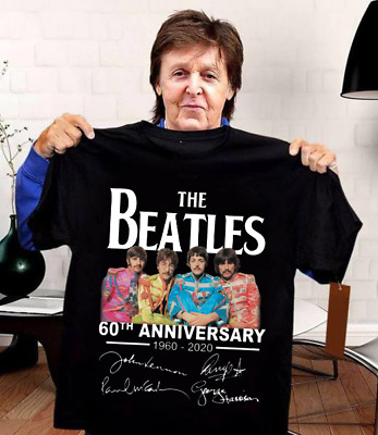 The Beatles 60th Anniversary 1960-2020 Black Men Women T-shirt