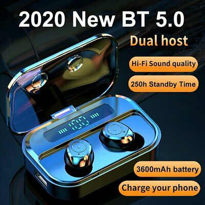 Bluetooth 5.0 Wireless Earbuds TWS Noise Reduction Earphones Headphones 3600mAh