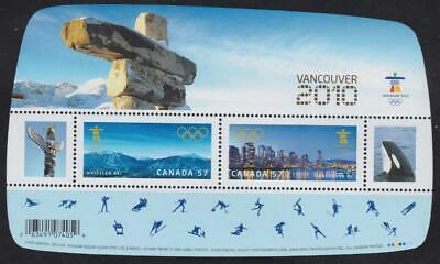 Canada 2010 - Souvenir Sheet #2366c Olympic Games (with Gold overprint)