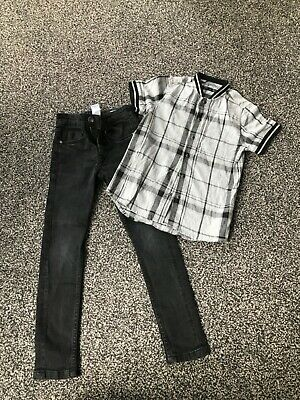 Boys next black jeans and shirt - 5 years